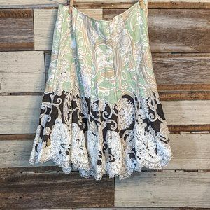 """Fun Boho Vintage Patch and Lace Skirt 30"""" waist"""